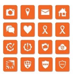 Social media network security and settings icons vector image
