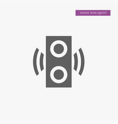 speaker icon simple vector image