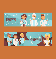 team doctors and other hospital workers set of vector image