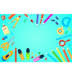 Top View Stationery Template vector image