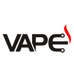 vape electric cigarette vector image