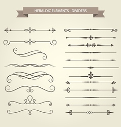 Vintage book vignettes dividers and separators set vector