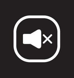 White icon on black background button music vector