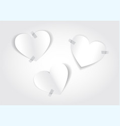 white paper hearts vector image