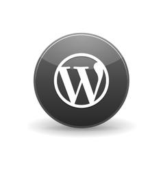 Wordpress alt icon simple style vector