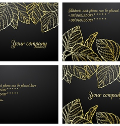 Black gold cards vector