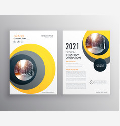 elegant yellow business brochure template design vector image