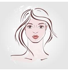 Hand drawn fashion Portrait vector image