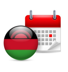 Icon of national day in malawi vector