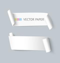 paper ribbon realistic vector image