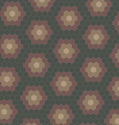 Abstract geometric tiles pattern background vector image