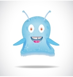 Blue happy alien vector image