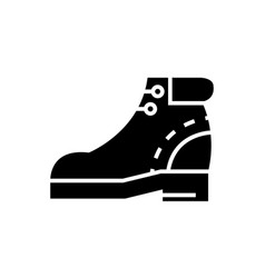 boots icon black sign on vector image vector image