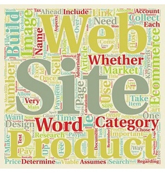 Build ecommerce web site text background wordcloud vector
