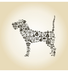 Dog business vector image vector image
