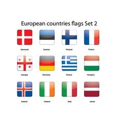 European countries flags set 2 vector image vector image