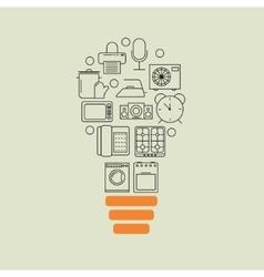 home appliances outline idea background vector image vector image