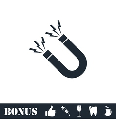 Magnet icon flat vector image
