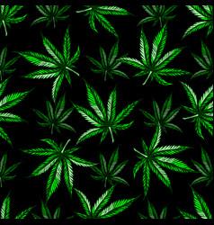 marijuana leaf pattern vector image vector image