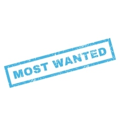 Most Wanted Rubber Stamp vector image vector image