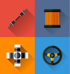automotive spare parts vector image vector image