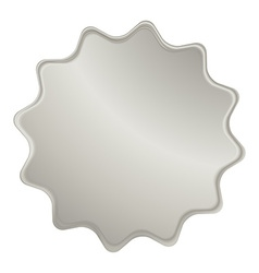 empty platinum label that can be used as a seal vector image