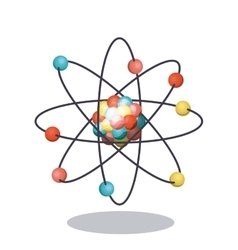 Multicolored and isolated atom design vector image vector image