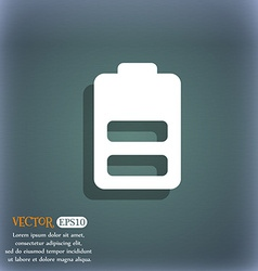 Battery half level Low electricity icon symbol on vector image