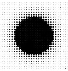 Black circle vector image