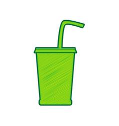 drink sign lemon scribble vector image vector image
