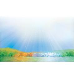 four seasons landscape vector image