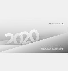 2020 happy new year background in paper style vector image