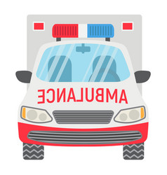 ambulance flat icon transport and vehicle vector image