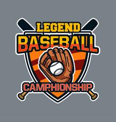 Baseball badge logo emblem template legend vector