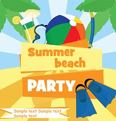 Beach party vector image