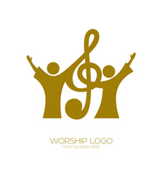 Believers in jesus sing a song vector