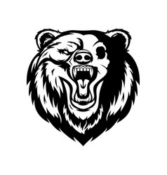 Black and white bear vector