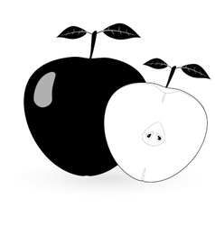 Black apple - vector image