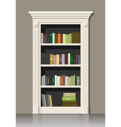 book wooden cabinet vector image
