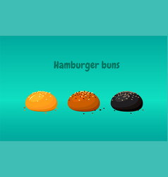 buns and rolls assortment black and white buns vector image