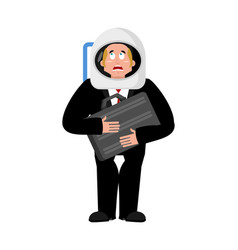 Businessman in space business astronaut boss vector