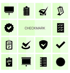checkmark icons vector image