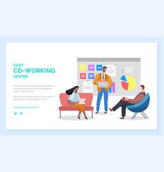comfortable workspace online co-working vector image