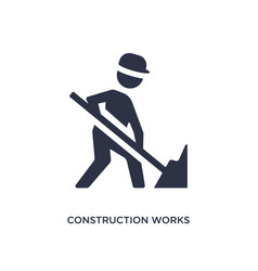 Construction works icon on white background vector