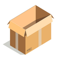 Delivery shipping package square empty container vector