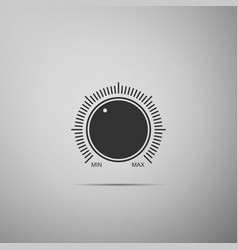 dial knob level technology settings volume button vector image