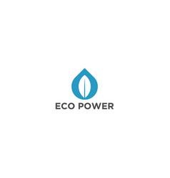 Eco power organic farming logo design vector