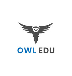 education owl logo design inspiration vector image