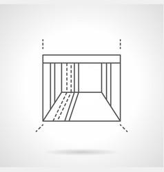 Empty showroom flat line icon vector