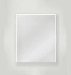 Empty white frame with a glass layout vector